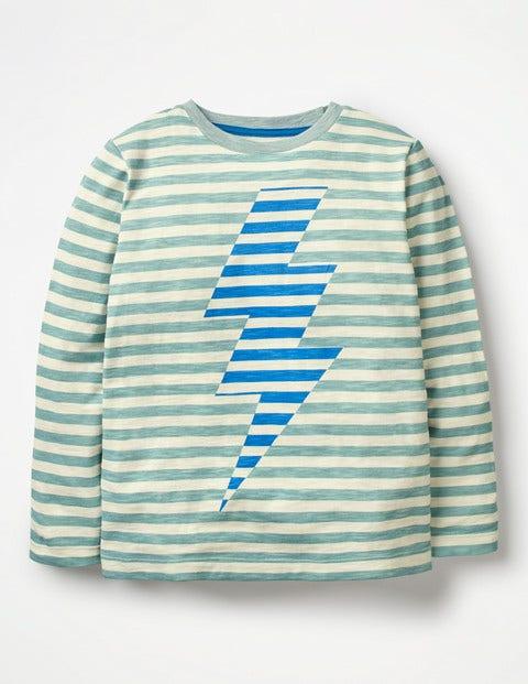 Gestreiftes Shirt mit Symbol B0457 Oberteile & T-Shirts bei Boden