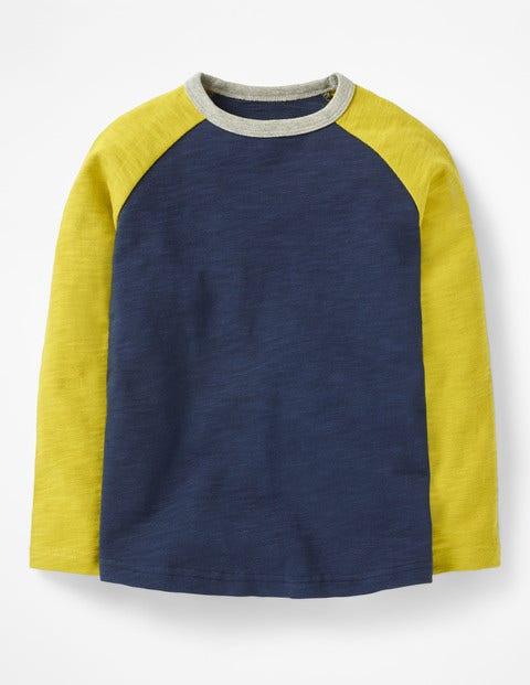 Raglan T-Shirt - School Navy/Lime Cordial Green