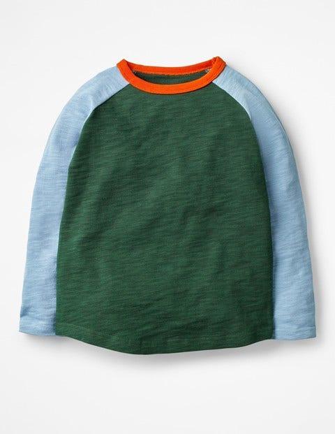 Raglan T-Shirt - Scots Pine Green/Wren Blue
