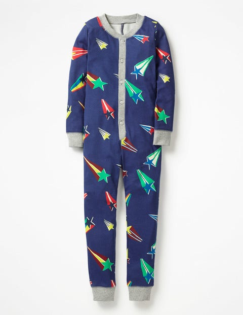 Cosy Sleep All-In-One Pajamas - Starboard Blue Superstar