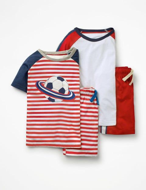 Boden Kurzer Schlafanzug im 2er-Pack Red Jungen Boden blau,rot |