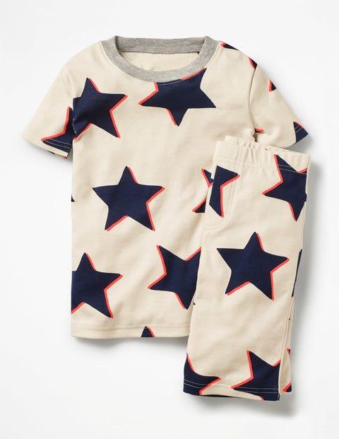 Cosy Short John Pajamas - Ecru Shadow Star