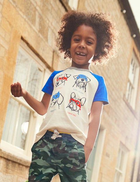 Animal Raglan T-Shirt - Ecru Super Dogs