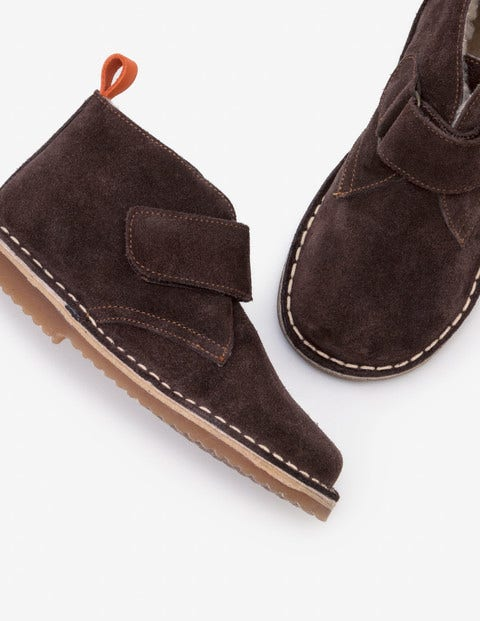Suede Desert Boots - Chocolate