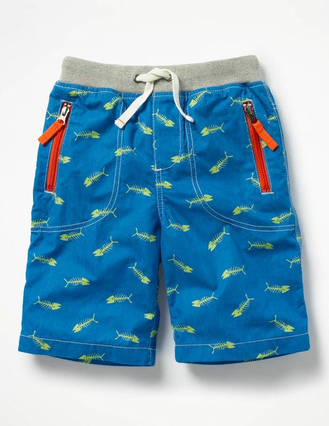 Adventure Shorts - Yogo Blue Fishbones