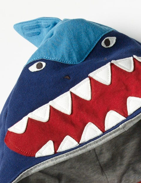 Shark Zip Through Hoodie by Boden