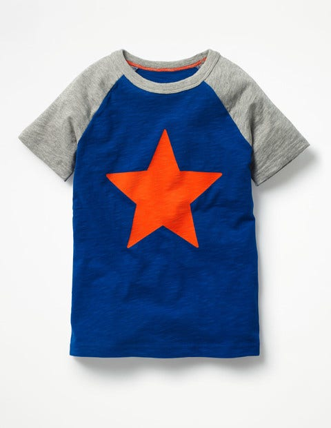 Summer Raglan T-Shirt - Orion Blue/Grey Marl Starfish