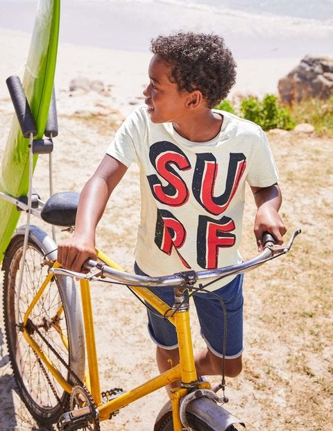 Printed Type T-Shirt - Ecru Surf
