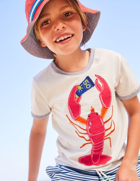 Tipped Appliqué T Shirt by Boden