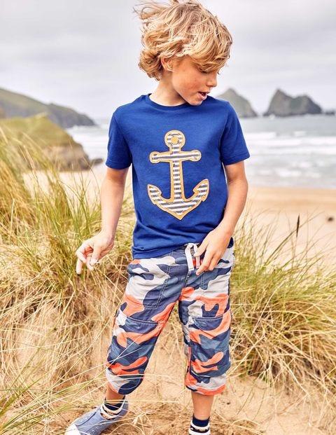 Pirate Appliqué T-Shirt - Orion Blue Anchor