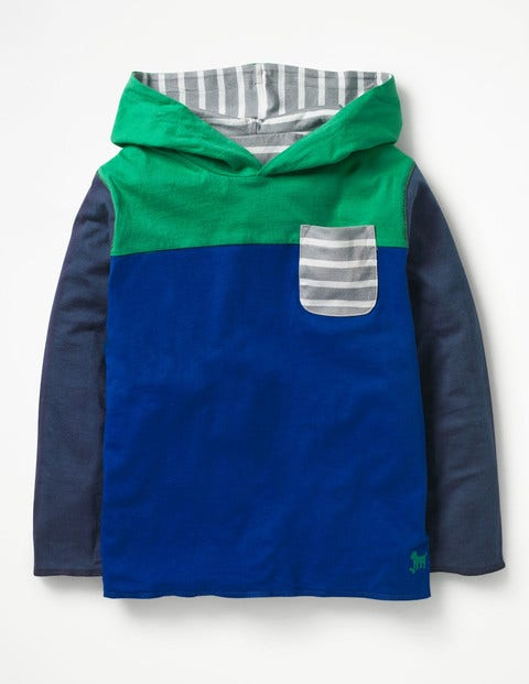 Reversible Hooded T-Shirt - Orion Blue/Watercress Green