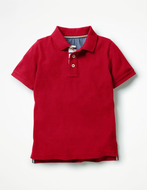 Piqué Polo Shirt - Engine Red