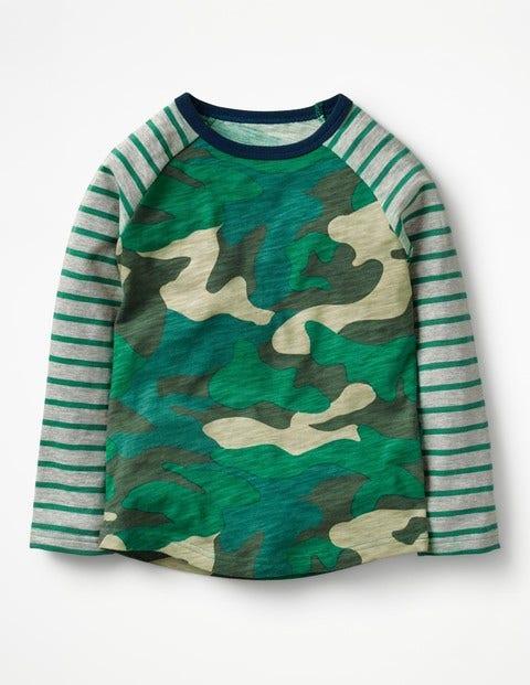 Raglan T-shirt Astro Green Camo Boys Boden