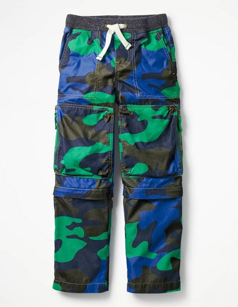 Zip-off Techno Pants Astro Green Camo Boys Boden