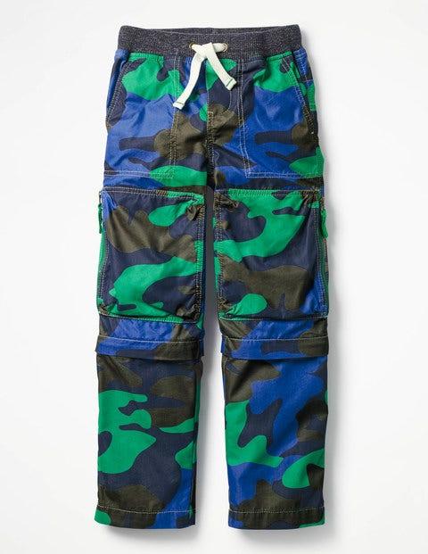 Zip-Off Techno Trousers - Astro Green Camo