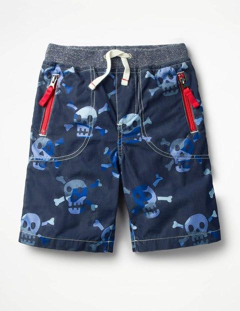 Adventure Shorts - School Navy Camo Skulls