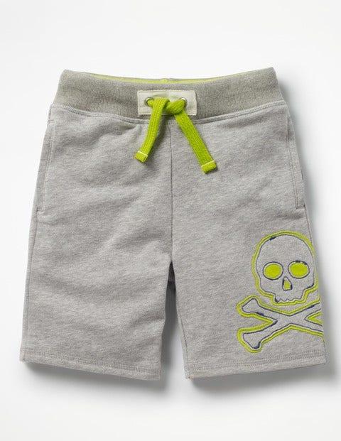 Appliqué Sweatshorts - Grey Marl Jaspé Skull