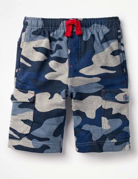 Jersey Cargo Shorts - Sea Cadet Blue Camo