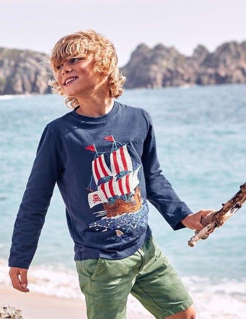 Pirate Superstitch T-Shirt - Beacon Blue Pirate Ship