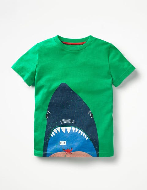 Sea Animal T-shirt Astrogreen Shark Boys Boden