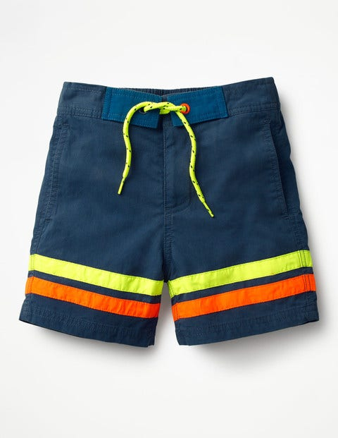 Poolside Shorts - Beacon Blue/Safety Yellow