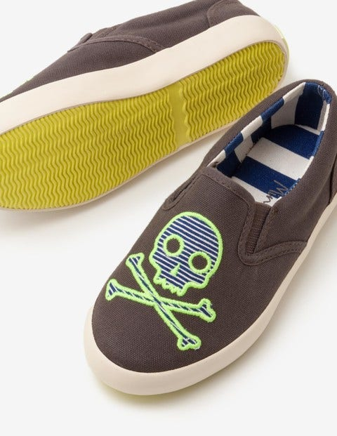 Novelty Slip-On Shoes - Shark Grey