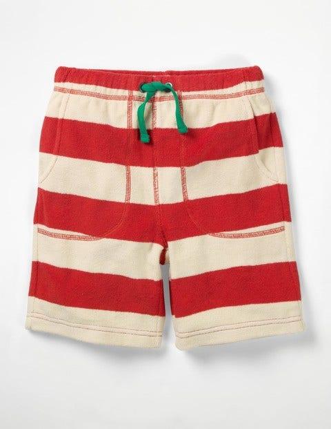 Towelling Shorts - Melon Crush Red/Ecru