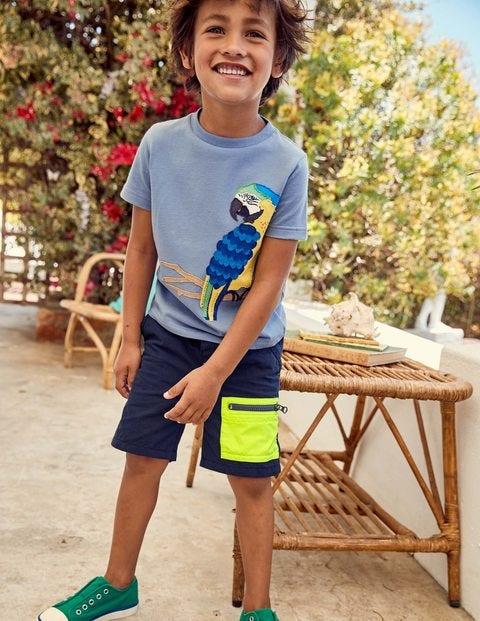 Colourblock Shorts - Beacon Blue