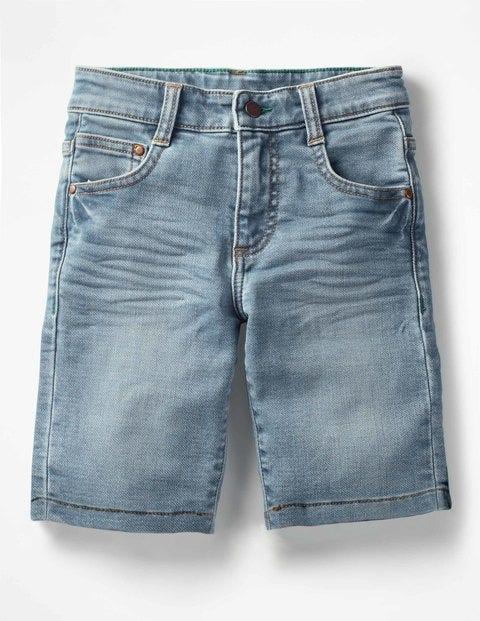 Jersey Denim Shorts - Light Vintage