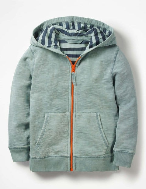 Garment Dyed Zip Up Hoodie by Boden