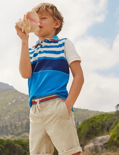 Colourblock Piqué Polo Shirt - Yogo Blue