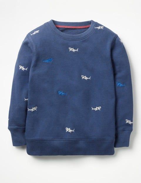 Castaway Sweatshirt - Beacon Blue Embroidery