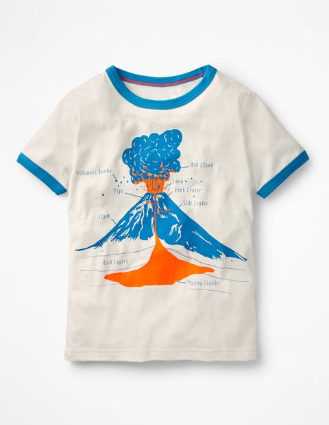 Educational Graphic T-Shirt - Ecru Volcano