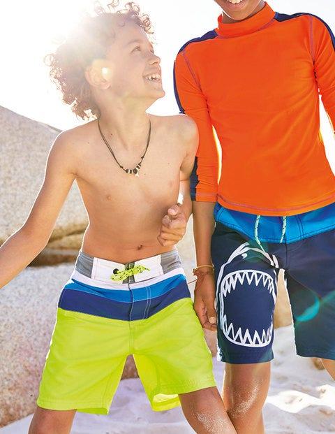 Poolside Shorts - Acid Yellow/Beacon Blue