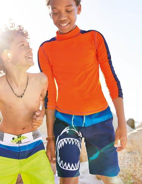 Board Shorts - Electric Blue Shark
