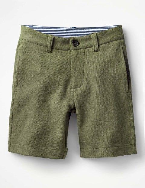 Jersey Chino Shorts - Khaki Green
