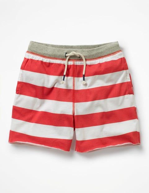Slub Jersey Shorts - Jam Red/Ivory
