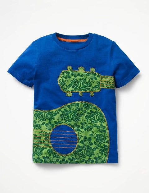 Printed Appliqué T-Shirt - Orion Blue Guitar