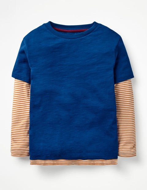 Layered T-Shirt - Orion Blue/Sticky Toffee