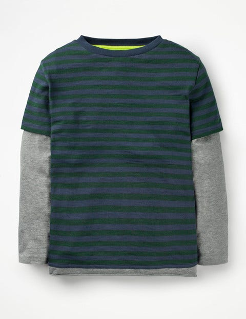 Layered T-Shirt - Scots Pine Green/School Navy