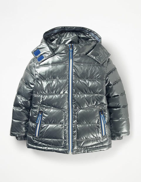 Padded Jacket - Metallic Pewter Grey