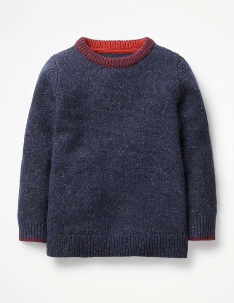 Donegal Crew Sweater - Navy Marl Donegal