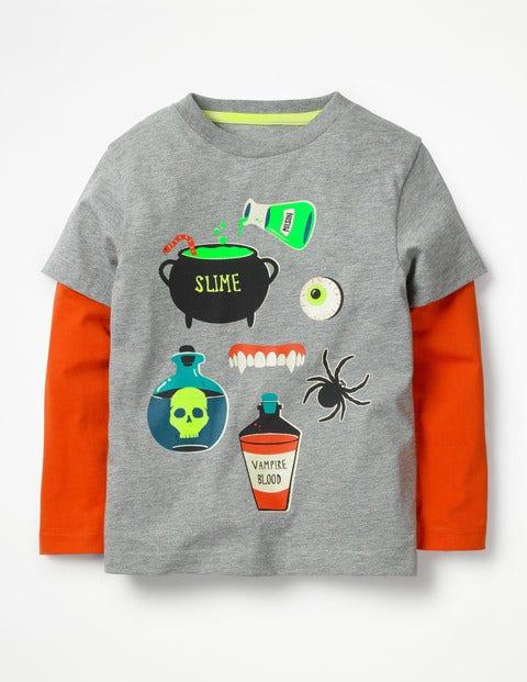 Glowing Halloween T-Shirt - Grey Marl Potions