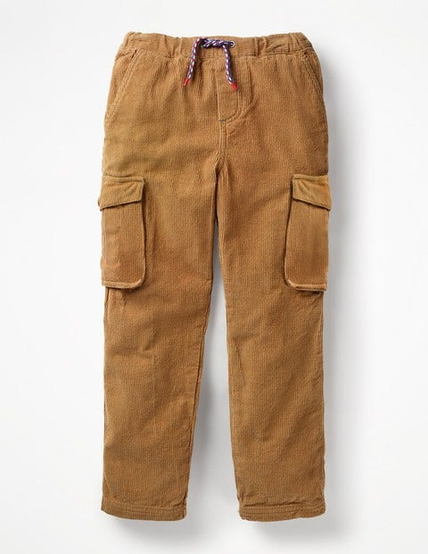 Cord Utility Cargo Pants - Rustic Brown