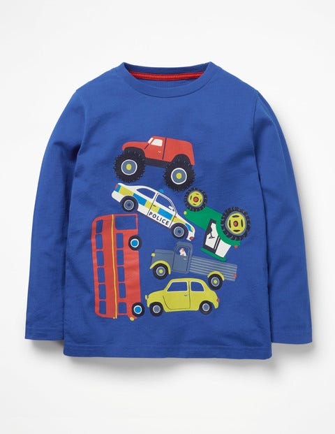 Printed Vehicle T-Shirt - Orion Blue Toy Cars