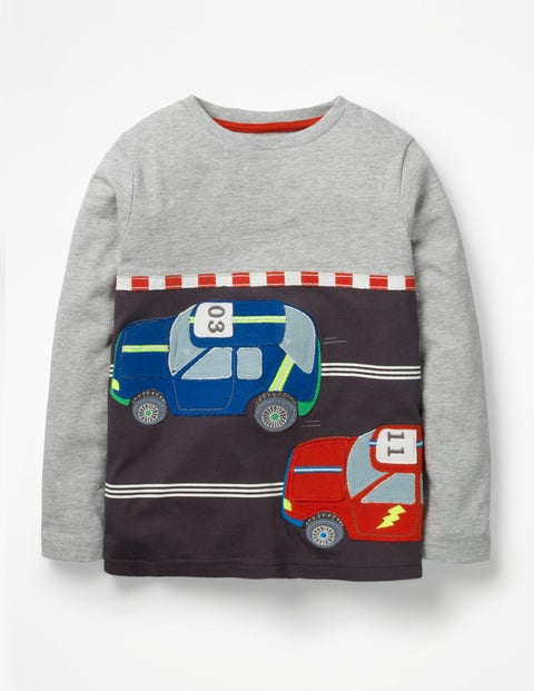 Novelty Toy T-Shirt - Grey Marl Race Track