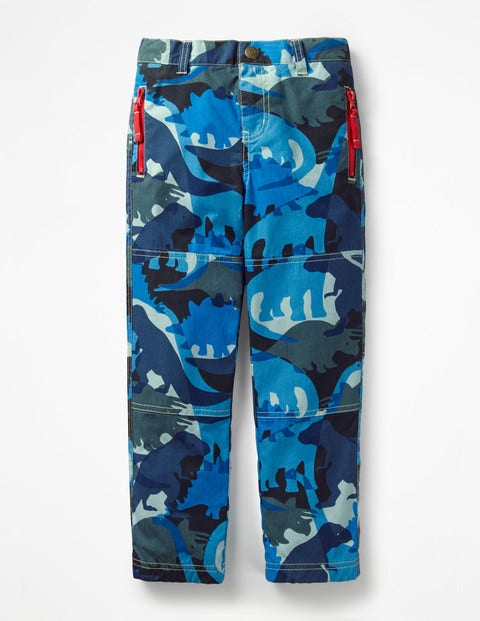 Lined Skate Pants - Daphne Blue Camosaurus