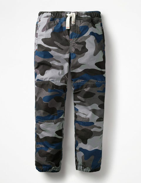 Fleece-Lined Techno Trousers - Tin Grey Camouflage