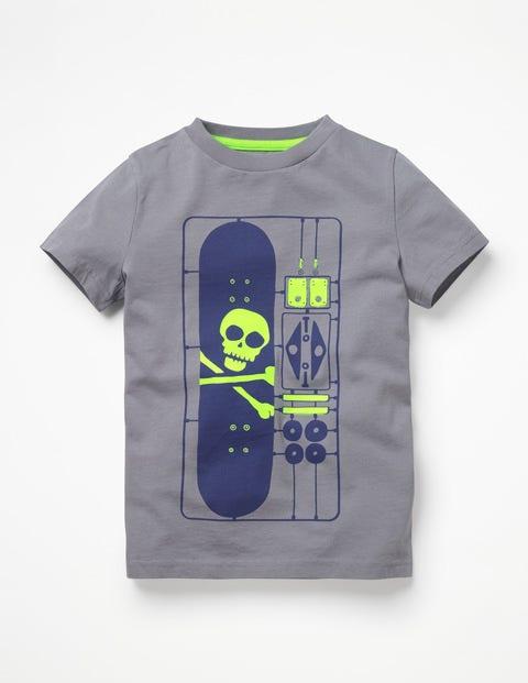 Games T-Shirt - Raft Grey DIY Skateboard