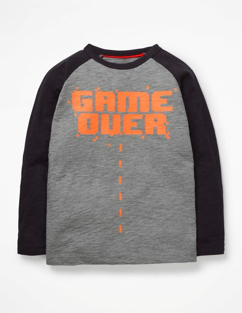 Graphic Pop T-Shirt - Grey Marl Game Over